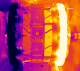 IR picture of a magnetocaloric heat pump